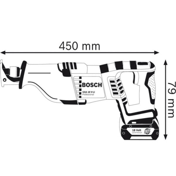Bosch GSA 18V-LI SOLO Professional   Cưa kiếm dùng pin