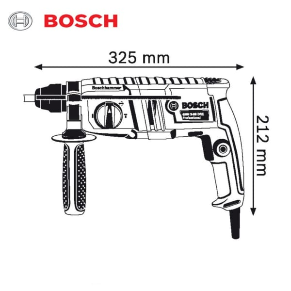 Bosch GBH 2-20 DRE Professional   Máy khoan búa dùng mũi khoan SDS-plus