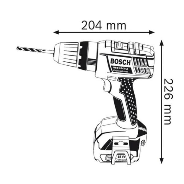 Bosch GSB 18-2-LI Professional | Khoan động lực dùng pin