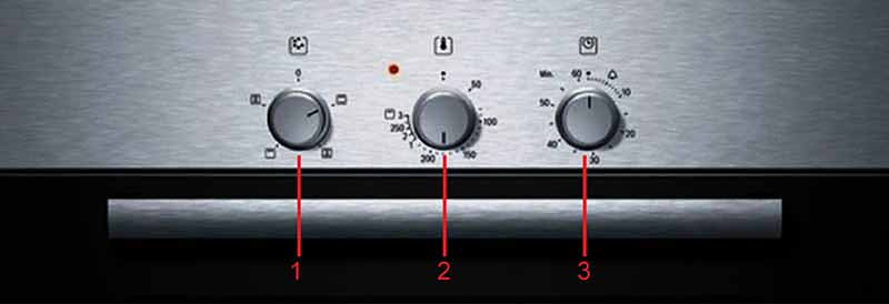 ký hiệu tính năng trên bảng điều khiển Bosch HBN211E2M