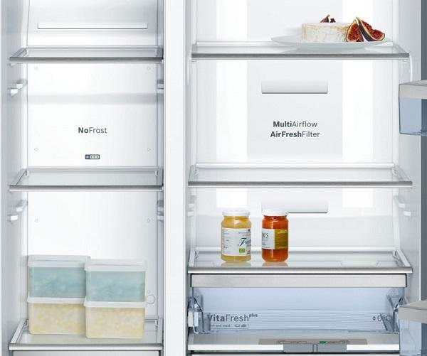 Ảnh ngăn bên trong tủ lạnh Bosch KAD92SB30
