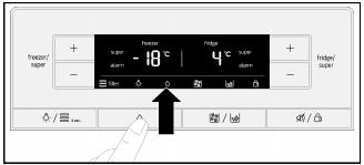 Ảnh bảng điều khiển tủ lạnh Bosch KAG90AI20